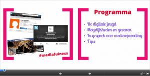 Mediafulness werkt met programma Prezi.
